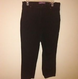 Gloria Vanderbilt Missy black jeans size 12 short